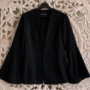 Who What Wear Black Blazer with Bell Sleeves